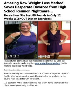 Advertorial for Weight Loss Product