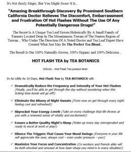 Website Copy for Tea Company