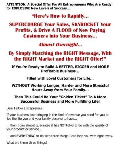 Copy Services Sales Letter
