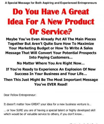 Online Sales Page for Lead Generation
