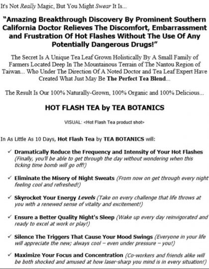 Website Copy for Tea Company
