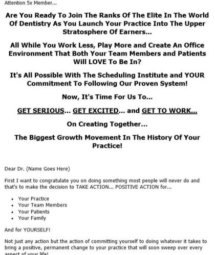 Direct Mail Sales Letter for Live Seminar