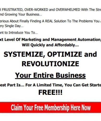 Online Landing Page for Free Membership