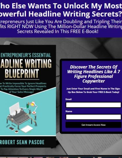 Landing Page for E-book
