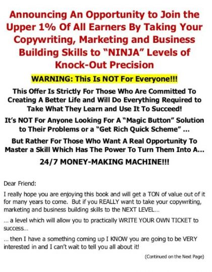 Elite Copywriting Academy Sales Page