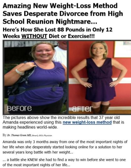 Advertorial #2 for Weight-loss Product